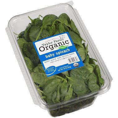 taylor farms organic baby spinach (16 oz.) sam's club