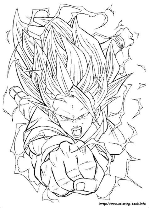 Dragon Ball Coloring Book Dragon Ball Z Color Page Coloring Pages