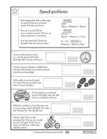 4th grade math worksheets calculating speed greatschools