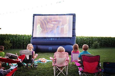 backyard movie party ideas movie night birthday party pear tree blog