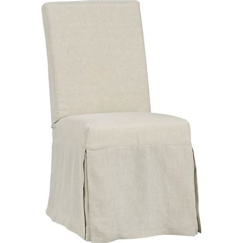 slip linen slipcovered dining chair chairs side chairs