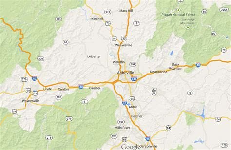map of and surrounding areas asheville nc surrounding area map asheville nc area