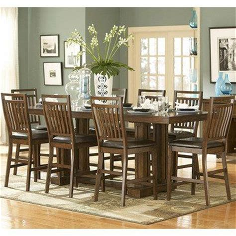 homelegance kirtland 9 piece double pedestal dining room 14 best images about counter height dining sets on pinterest