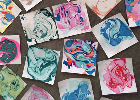 How To Make Marbled Paper - marbled paper ink designs