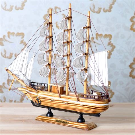 sailing boat decoration buy boat decoration wooden sailing boat wool crafts home