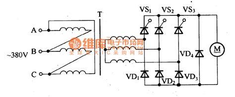what is a scr diode three phase bridge type thyristor rectifier circuit basic circuit circuit diagram seekic