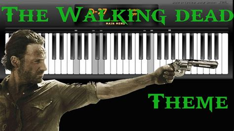 theme google chrome the walking dead the walking dead theme virtual piano youtube