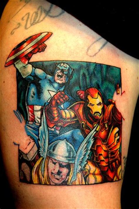 avengers tattoos via http wp me p1jzwl 2mp ink