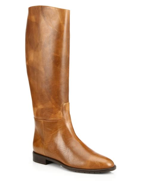 stuart weitzman equine leather knee high boots in brown lyst