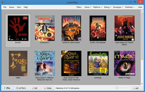 best dos emulator vogons view topic launchbox new dosbox frontend and