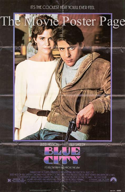 film blue us blue city 1986 ally sheedy one sheet f vg 20
