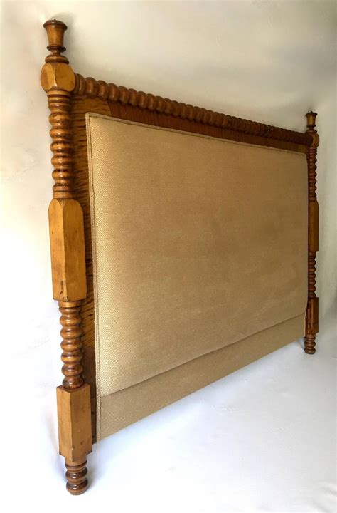 Upholstered Wood Headboards by Headboard Turned Wooden Legs Custom Upholstered At