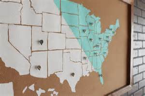 usa map wall decor diy usa map wall