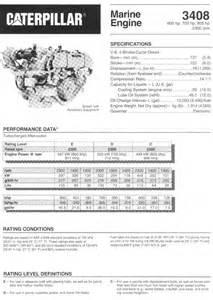 cat 3408 marine engine specification thin web crankshaft