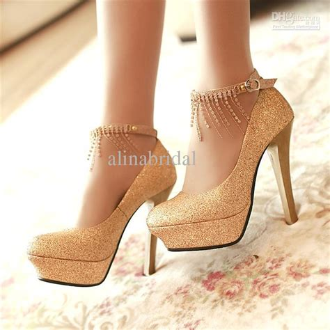Xoxo Heels Silver 12cm bridal accessories high heeled wedding shoes silver gold prom shoes 12cm waterproof s high