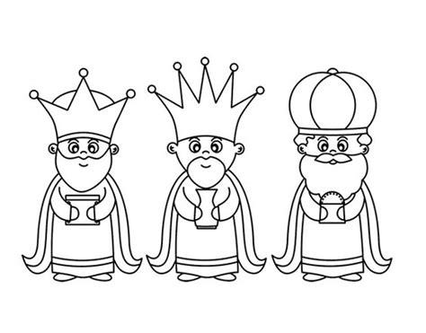 imagenes reyes magos para recortar dibujo de los 3 reyes magos para colorear dibujos de