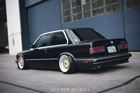 stance bmw e30 stance works bagged e30 on bbs rss