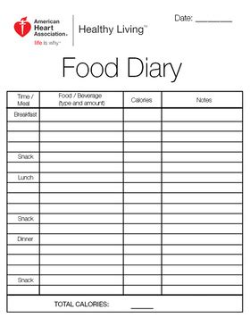 Food Diary How To Keep Track Of What You Eat My Food Journal Template