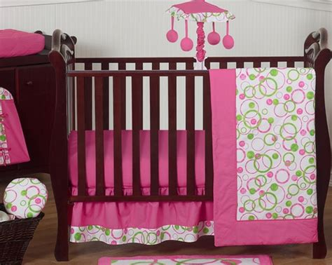 pink and green baby bedding pink and green circles modern baby bedding 11pc crib set