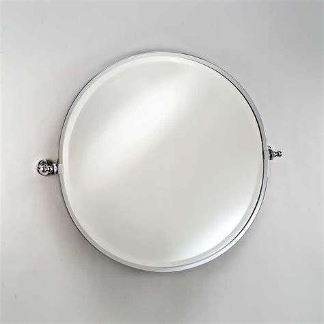 round mirror medicine afina radiance gear tilt 24 quot round mirror polished