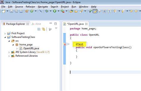 web testing tutorial junit selenium webdriver annotations software testing class