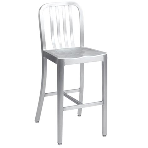 Navy Aluminum Bar Stools by Brushed Aluminum Outdoor Restaurant Bar Stool With