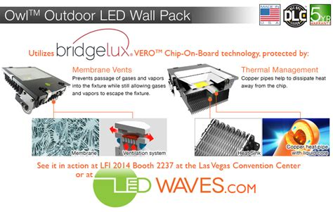 design lights consortium qualified products list led waves owl pack outdoor led flood lights added to the
