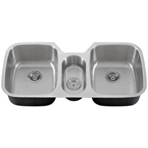 three bowl kitchen sink 43 inch stainless steel undermount bowl kitchen