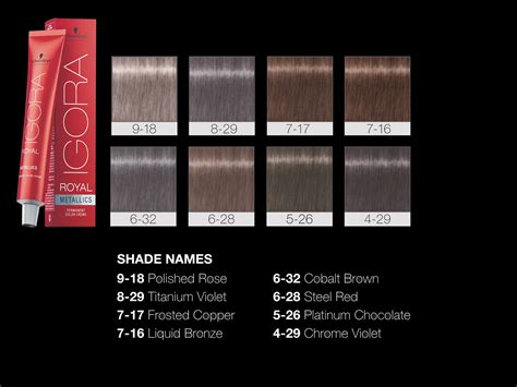 schwarzkopf professional hair color schwarzkopf professional igora royal metallics color