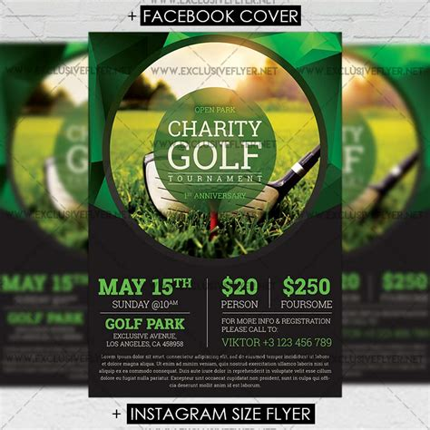 golf tournament flyer template golf tournament premium a5 flyer template