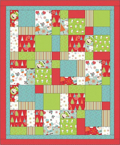 Easy Quilt Patterns Using Quarters by Fabric Mill September 2010