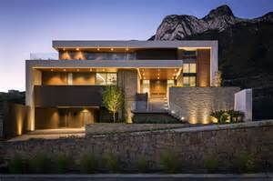 modern house modern house on mountain modern house