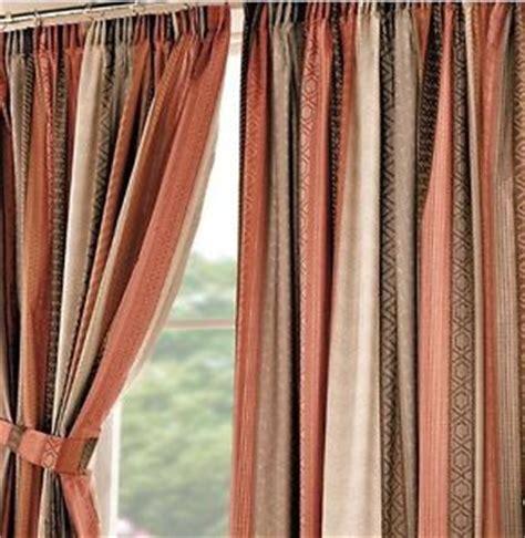 orange and cream curtains bnip retro orange brown cream aztec pattern stripe pencil