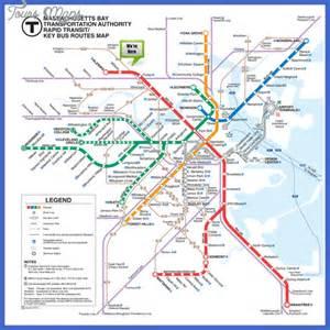 Boston Mta Map by Boston Subway Map Map Travel Holiday Vacations