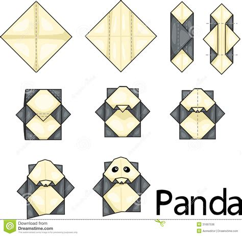 Origami Panda - pin origami panda tutorial on