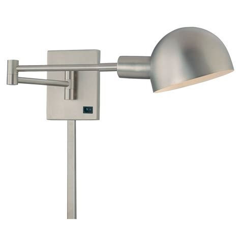 brushed nickel swing arm wall l p3 brushed nickel swing arm wall l george kovacs shaded