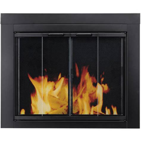 pleasant hearth bi fold style fireplace glass door alton