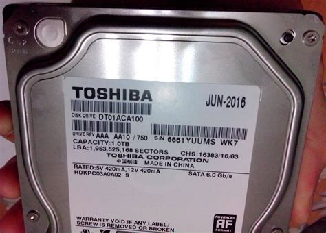 toshiba toshiba internal hdd toshiba dtaca serial