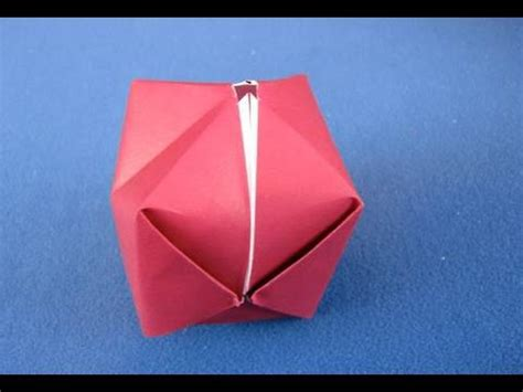 How To Make Paper Balloon - origami bomb palla origami how to make a paper balloon