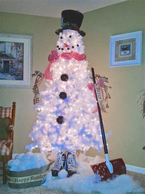 snowman christmas tree diy decorations  ideas