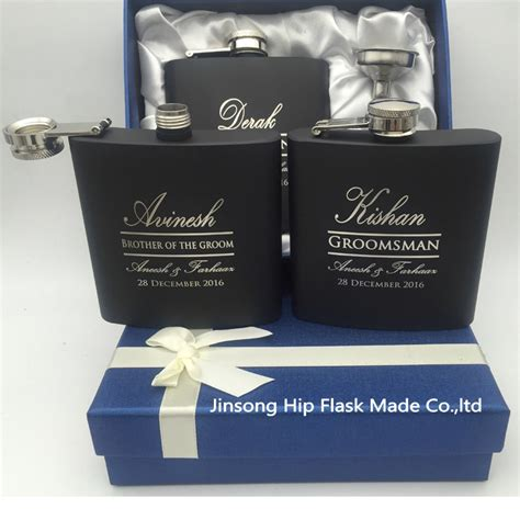 country wedding 8 groomsmen gift flask sets personalized personalized wedding gift for groom or groomsmen gifts of