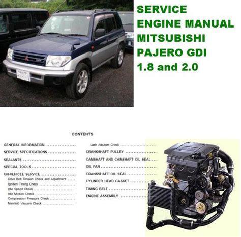 engine manual mitsubishi pajero gdi manuals