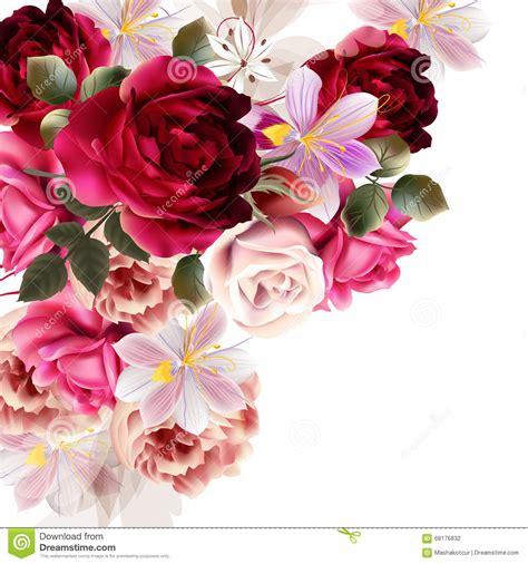 flower design jpg vector cute flower bouquet for design stock vector image