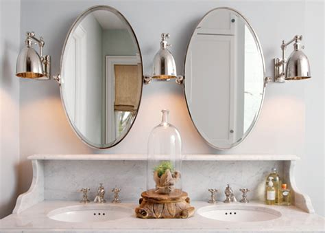 oval pivot bathroom mirror oval pivot mirrors transitional bathroom capital style