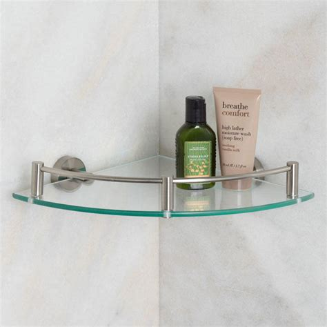 bristow tempered glass corner shelf bathroom