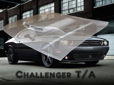 challenger ta style functional ram air hood