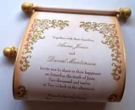 scroll wedding invitations rustic scroll wedding invitations damask with by artfulbeginnings