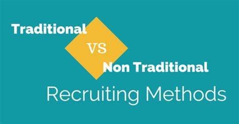 Mba Vs Traditional by Traditional Vs Non Traditional Recruiting Methods