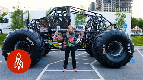 how to become a monster truck driver for monster jam the youngest female monster truck driver builds her own