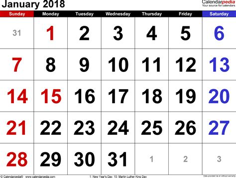 january 2017 calendar printable in word pdf monthly